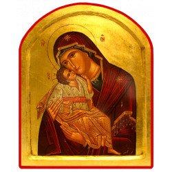 Icône Creuse Arrondie Vierge de Tendresse