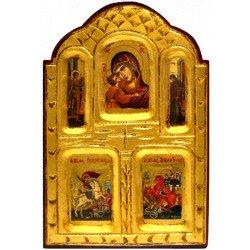 Icône de la Vierge de Tendresse, St Michel et St Dimitri