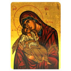 Icône Plate Vierge de Tendresse
