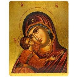 Icône Plate Vierge de Korsun