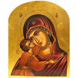 Icône Plate Arrondie Vierge de Korsun