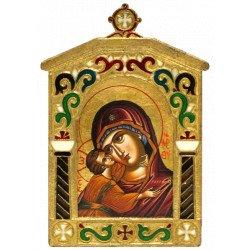Icône Vierge de Korsun Cadre en Bronze Emaillé