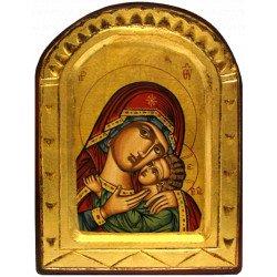 Icône Sculptée Vierge de Korsun