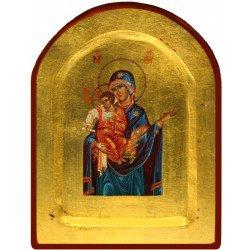 Icône Creuse Arrondie Vierge Toute Puissante