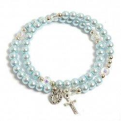 Bracelet chapelet bleu