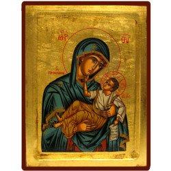 Icône Creuse Vierge Toute Puissante Bleue