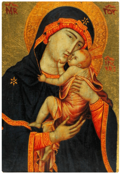 Icône Plate Vierge de Cambrai
