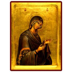 Icône Creuse Vierge en Prière