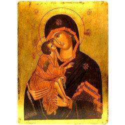Icône Plate Vierge de Vladimir