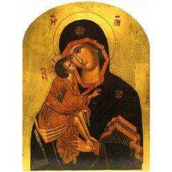 Icône Plate Arrondie Vierge de Vladimir