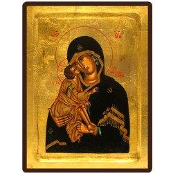 Icône Creuse Vierge de Vladimir