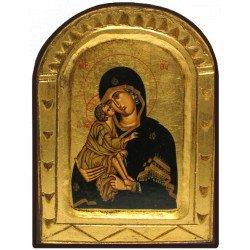 Icône Sculptée Vierge de Vladimir