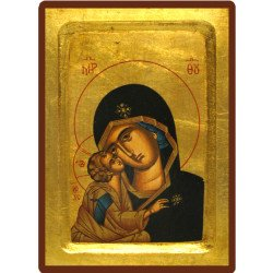 Icône Creuse Vierge de Vladimir Détails