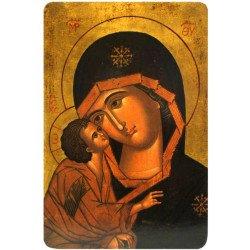 Icône Plate Vierge de Vladimir Détails