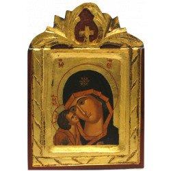 Icône Sculptée Vierge de Vladimir Détails