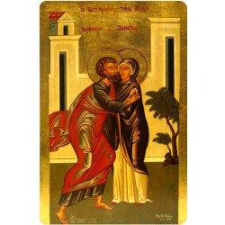 Icône Plate du Mariage de Marie et de Joseph