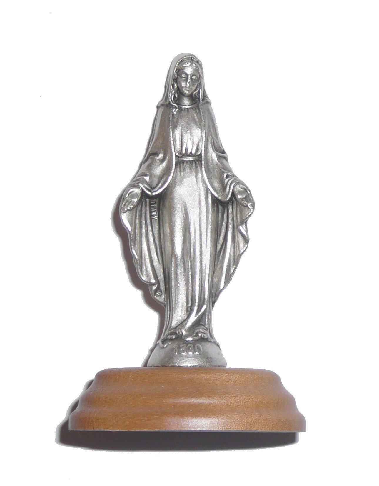 Statue en métal de la Vierge Marie