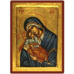 Icône Vierge de Tendresse entièrement peinte à la main