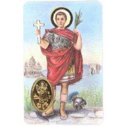 Carte de prière avec poinçon - Saint Expédit
