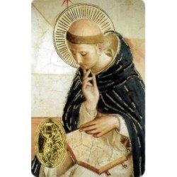 Carte de prière avec poinçon - Saint Dominique