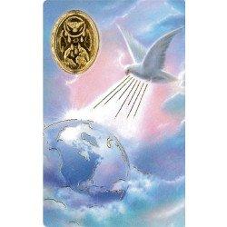 Carte de prière avec poinçon - Saint Esprit