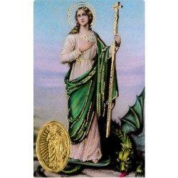 Carte de prière avec poinçon - Sainte Marthe