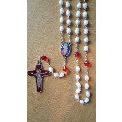 Chapelet Divine Miséricorde - Blanc & Rouge