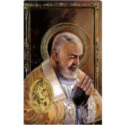 Carte de prière avec poinçon - Padre Pio