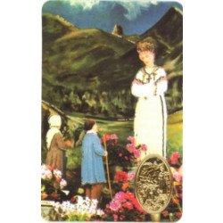 Carte de prière avec poinçon - Notre-Dame de la Salette