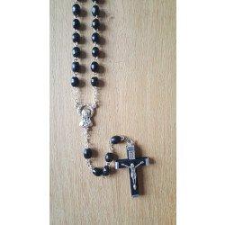 Chapelet Vierge Marie - Bois noir