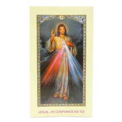 Image avec prière - Christ Miséricordieux