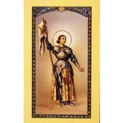 Image avec prière - Sainte Jeanne d'Arc