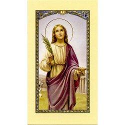 Image avec prière - Sainte Lucie