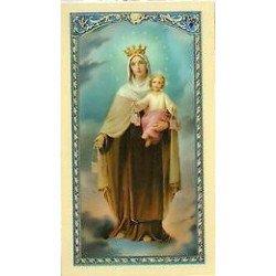 Image avec prière - Notre-Dame du Mont Carmel