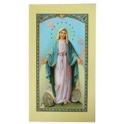 Image avec prière - Vierge Miraculeuse