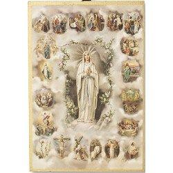 Cadre à suspendre de Notre-Dame de Lourdes et du Rosaire