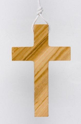 Croix d'aube bois d'olivier - 8 cm