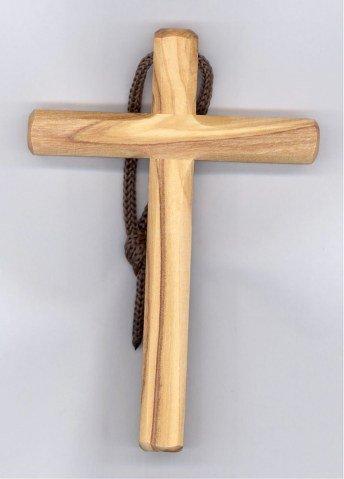 Croix d'aube en bois d'olivier - 10 cm