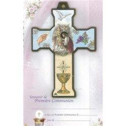 Croix & certificat de communion - Fille