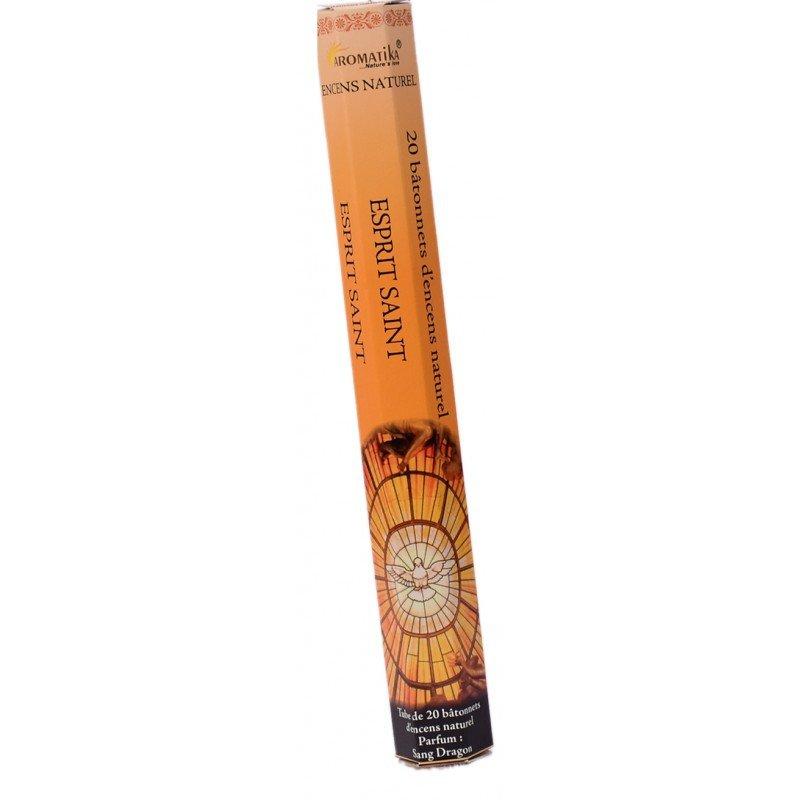 Encens naturel Esprit Saint tube de 20 bâtonnets