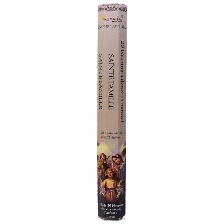 Encens naturel Sainte Famille tube de 20 bâtonnets