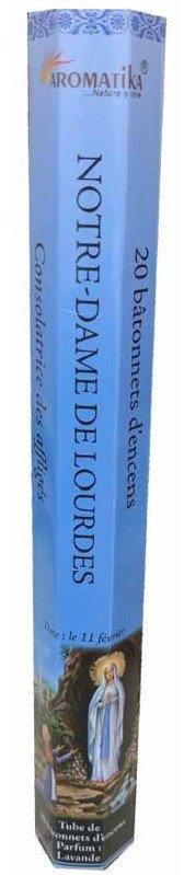 Encens naturel Notre-Dame de Lourdes tube de 20 bâtonnets