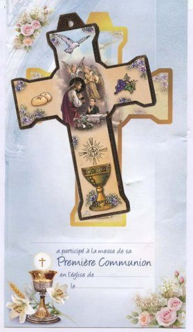 Croix & certificat de communion - Garçon