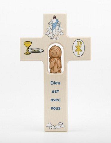 Croix enfantine en bois