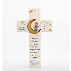 Croix enfantine en bois - Nuit