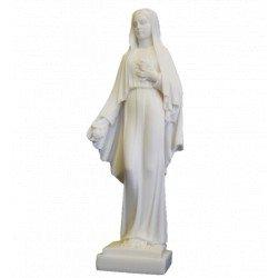 Statue de la Vierge aux Roses en albâtre - 25 cm