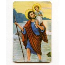 Carte de prière -  Saint Christophe