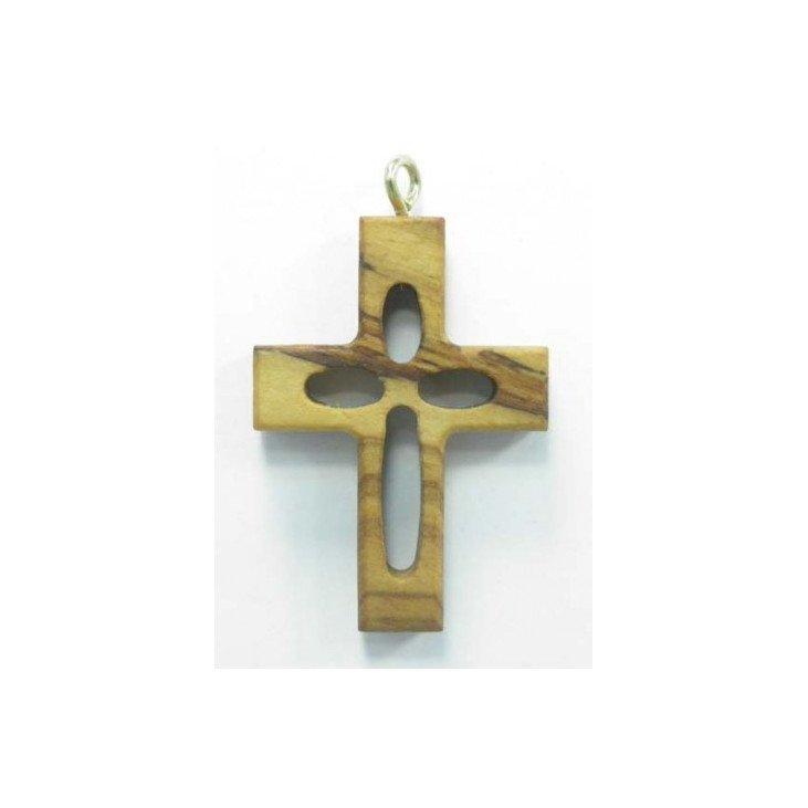 Croix ajourée - Bois d'olivier