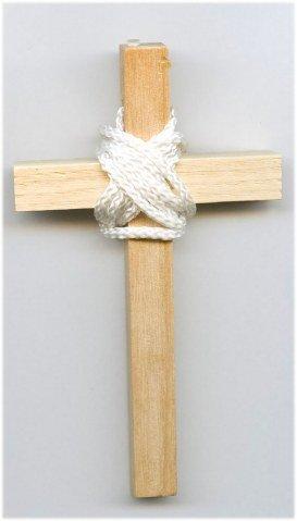 Croix d'aube bois clair - 10 cm