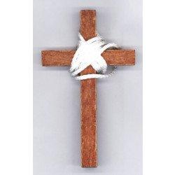 Croix d'aube bois foncé - 10 cm